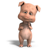 Cute and funny cartoon pig Royalty Free Stock Images