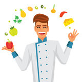 Cute and funny chef Stock Photo