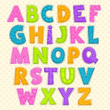 Cute funny childish alphabet Stock Photography