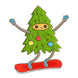Cute and funny Christmas tree Royalty Free Stock Photo