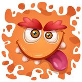 Cute, funny, crazy monster character. Helloween illustration. Printing on T-shirts. Cute, funny, crazy monster character. Helloween illustration Vector eps 10 royalty free illustration