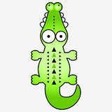 Cute funny crocodile Stock Photos