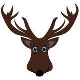 Cute funny deer head cartoon Stock Image