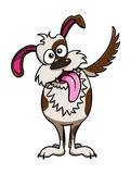 Cute funny dog cartoon. Illustration of cute funny dog cartoon Royalty Free Stock Images