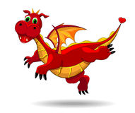 Cute funny dragon Royalty Free Stock Images