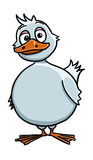 Cute funny duck cartoon. Illustration of cute funny duck cartoon Royalty Free Stock Images