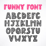 Cute funny font Royalty Free Stock Photos