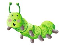 Cute funny of the green caterpillar