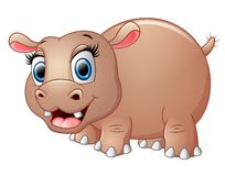 Cute funny hippo Royalty Free Stock Images