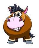 Cute funny horse cartoon. Illustration of cute funny horse cartoon Royalty Free Stock Photo