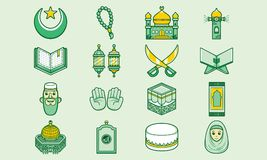 Cute and funny islamic icon vector illustration