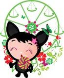 Cute funny kitten  illustration Stock Photo