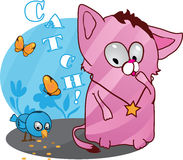 Cute funny kitten vector illustration Stock Photography