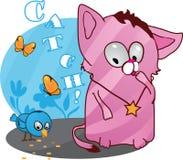 Cute funny kitten vector illustration Stock Photography
