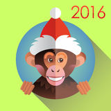 Cute funny monkey in a hat Royalty Free Stock Images