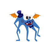 Cute and Funny Monster Avatar - Animated Cartoon Character in Flat Vector Royalty Free Stock Photo