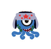 Cute and Funny Monster Avatar - Animated Cartoon Character in Flat Vector Stock Photo