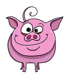 Cute funny pig cartoon Royalty Free Stock Photos