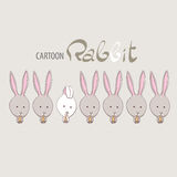 Cute funny rabbits Stock Photography