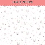 Cute funny seamless pattern with Bunny and hearts Stock Photo