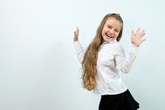 Cute funny smiling girl indoors Royalty Free Stock Photo