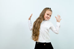 Cute funny smiling girl indoors Stock Photo