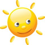 Cute funny sun Royalty Free Stock Photos