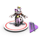 Cute and funny toon cow served on a dish as a Royalty Free Stock Images