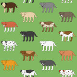 Cute and funny walking dogs pattern Stock Photos