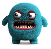 Cute furry monster Stock Images