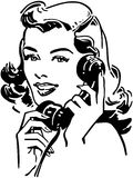 Cute Gal On The Phone Royalty Free Stock Image