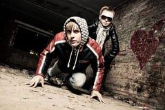 Cute gangs Royalty Free Stock Image