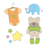 Baby cute doodle elements  Royalty Free Stock Photos