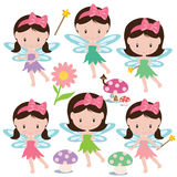 Cute garden fairy vector illustration Stock Photo
