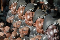 Cute garden gnome dwarf elf Royalty Free Stock Photos