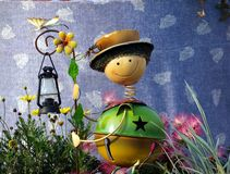 Cute Garden Lantern Figure Stock Images
