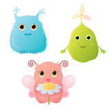 Cute garden monsters Royalty Free Stock Image