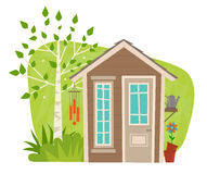 Cute Garden Shed Stock Photo