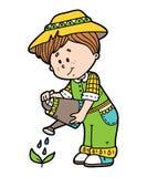 Cute gardener. Vector illustration of cute cartoon gardener character royalty free illustration