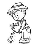 Cute gardener. Royalty Free Stock Photos