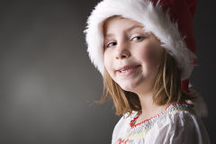Cute and geeky little christmas elf Stock Image