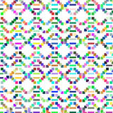 Cute geometric mosaic texture for design,  image Stock Photography