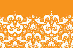 Cute geometrical foxes horizontal border seamless Royalty Free Stock Photo