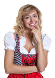 Cute german woman in a traditional bavarian dirndl Stock Photos
