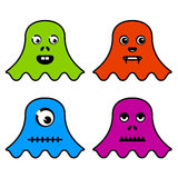 Cute ghost monsters Royalty Free Stock Photo