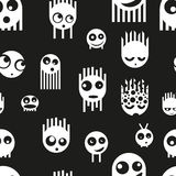 Cute ghost monsters seamless pattern, vector Royalty Free Stock Photos