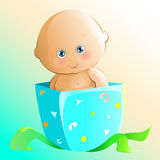 Cute Gift. Illustration of a cute baby boy Royalty Free Stock Image