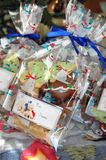 Christmas Gift Bag of Cookies Stock Photo