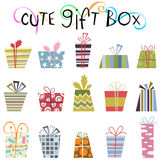 Cute gift box vector 2 Stock Photo