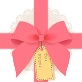 Cute gift box. Vector File EPS10 Royalty Free Stock Photo